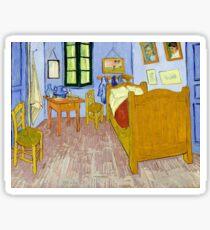 1889-Vincent van Gogh-Van Gogh's Bedroom in Arles-57x74 Sticker