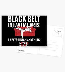 Black Belt In Partial Arts Postcards