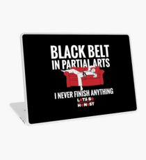 Black Belt In Partial Arts Laptop Skin