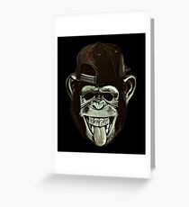 Hipster Monkey Style Greeting Card
