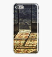 Strong contrast between light and shadow. Old classical entrance. iPhone Case/Skin