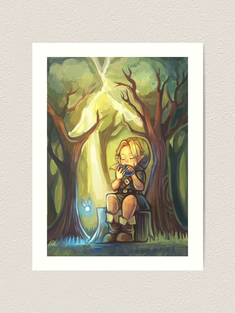 Lost Woods Symphony Legend Of Zelda Ocarina Of Time Art Print