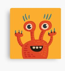 Funny Orange Creature Canvas Print