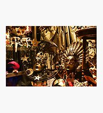 Impressions of Venice - Sun and Moon Venetian Carnival Masks  Photographic Print