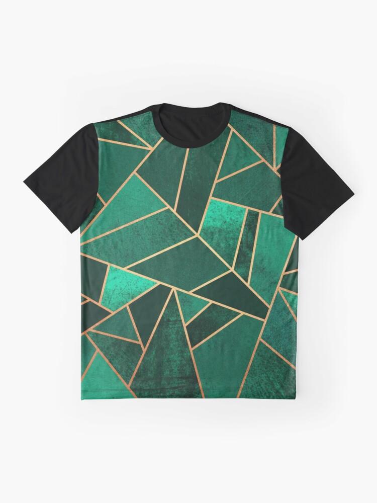 Alternative Ansicht von Smaragd und Kupfer Grafik T-Shirt