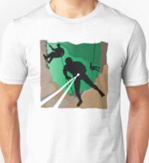 Abseil or Rappel, Rock Climber Unisex T-Shirt