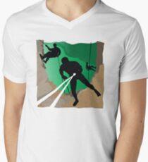 Abseil or Rappel, Rock Climber Men's V-Neck T-Shirt