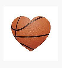 Basketball Heart Photographic Print
