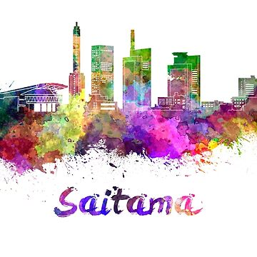 Saitama skyline in watercolor by paulrommer