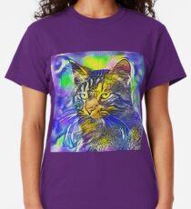 Artificial neural style iris flower cat Classic T-Shirt