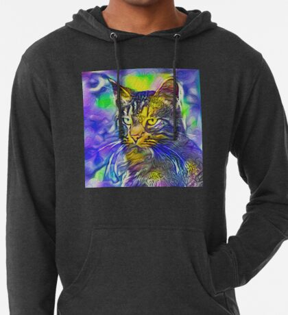 Artificial neural style iris flower cat Lightweight Hoodie