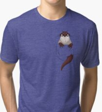 Otter in your pocket! Tri-blend T-Shirt