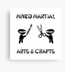 Mixed Martial Arts Crafts Canvas Print