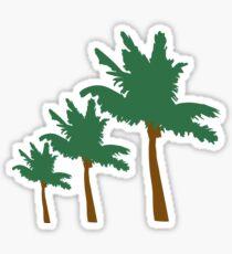 palm beach 3 allee row windy wind storm air Boehe Sticker