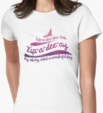 Zip-a-dee-doo-dah Womens Fitted T-Shirt