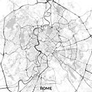 Rom Stadtplan Grau von HubertRoguski