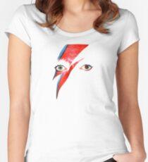David Bowie Aladdin Sane Lightning Bolt Women's Fitted Scoop T-Shirt