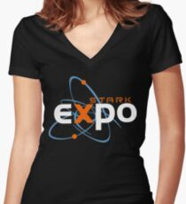 Stark Expo Women's Fitted V-Neck T-Shirt