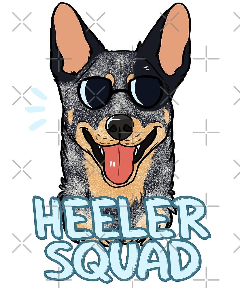HEELER SQUAD (blue) by Dany Gonzalez