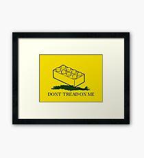 dont tread on legos Framed Print