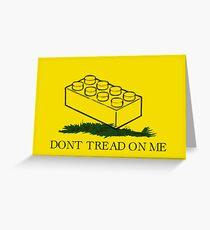 dont tread on legos Greeting Card