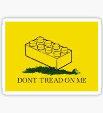 dont tread on legos Sticker