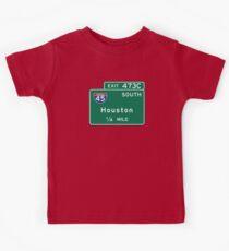 Houston I-45, TX Road Sign, USA Kids Clothes