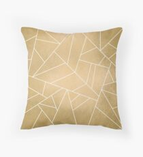 Minimal Gold Throw Pillow
