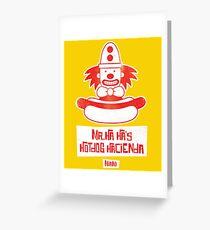 Mr. Ha Ha's Hotdog Hacienda Greeting Card
