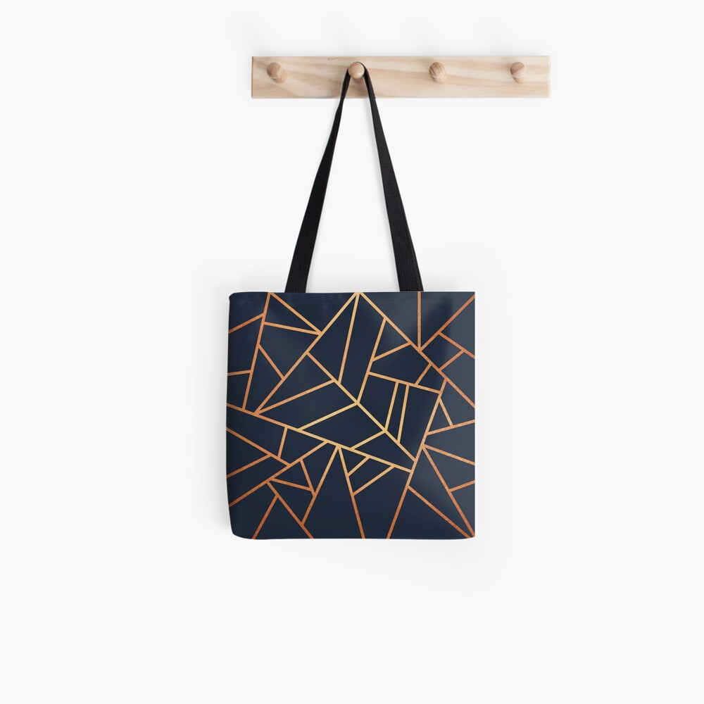 Kupfer und Midnight Navy Tote Bag