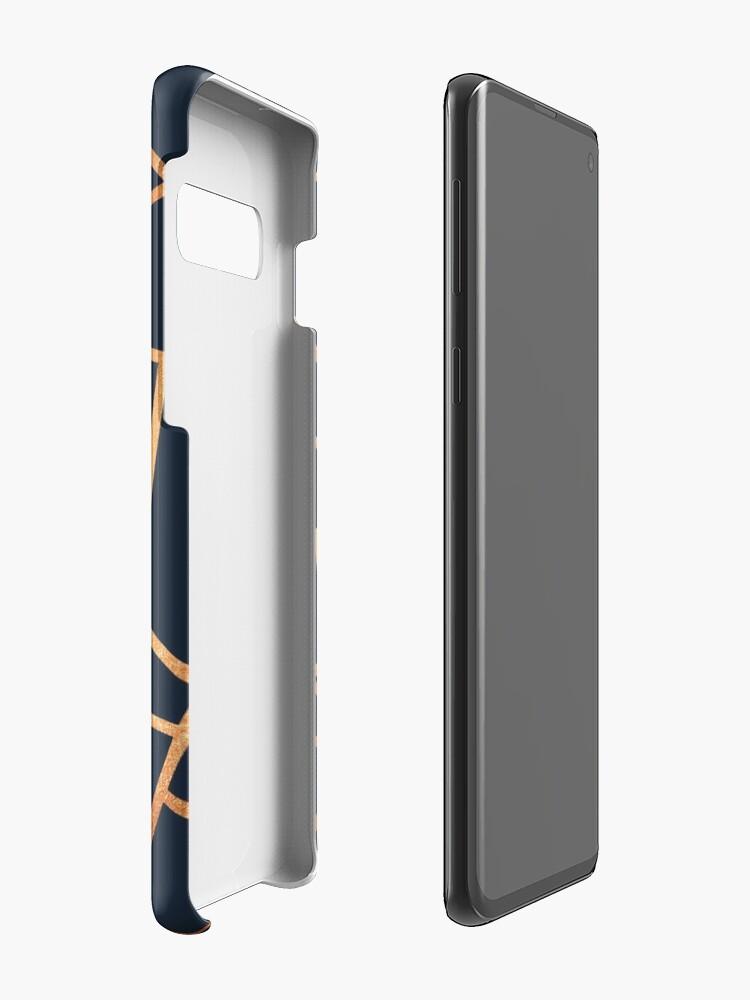 Alternative Ansicht von Kupfer und Midnight Navy Hüllen & Klebefolien für Samsung Galaxy