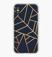 Vinilo o funda para iPhone Copper and Midnight Navy