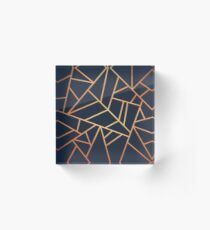 Copper and Midnight Navy Acrylic Block