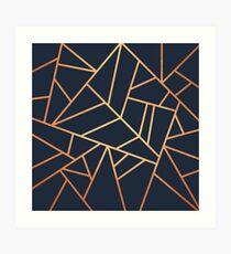 Kupfer und Midnight Navy Kunstdruck
