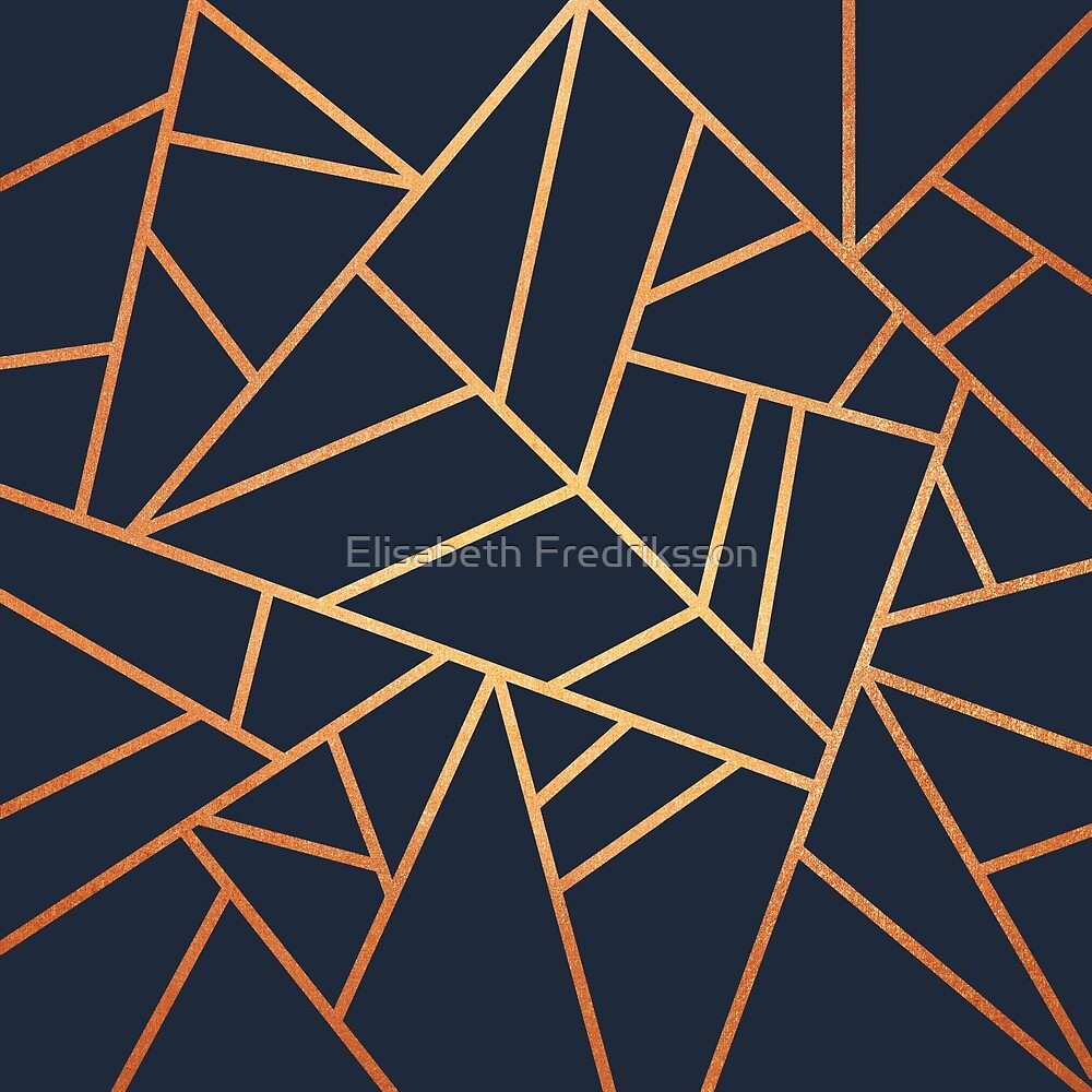 Copper and Midnight Navy by Elisabeth Fredriksson