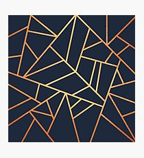 Copper and Midnight Navy Photographic Print