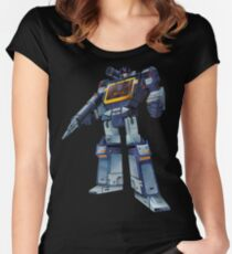 Masterpiece Soundwave (Transparent Background) Women's Fitted Scoop T-Shirt