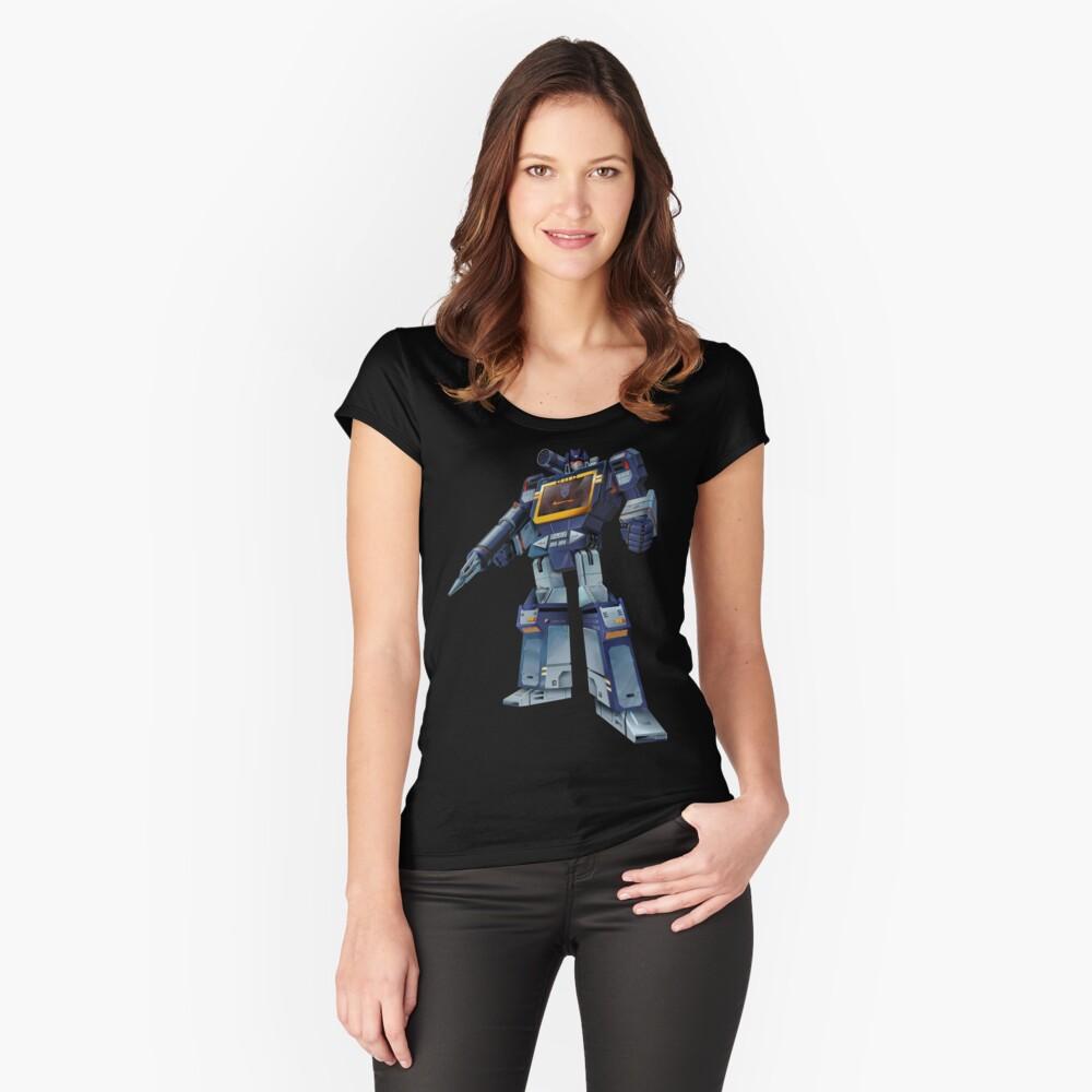 Masterpiece Soundwave (fondo transparente) Camiseta entallada de cuello ancho