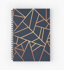 Cuaderno de espiral Copper and Midnight Navy