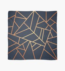 Copper and Midnight Navy Scarf