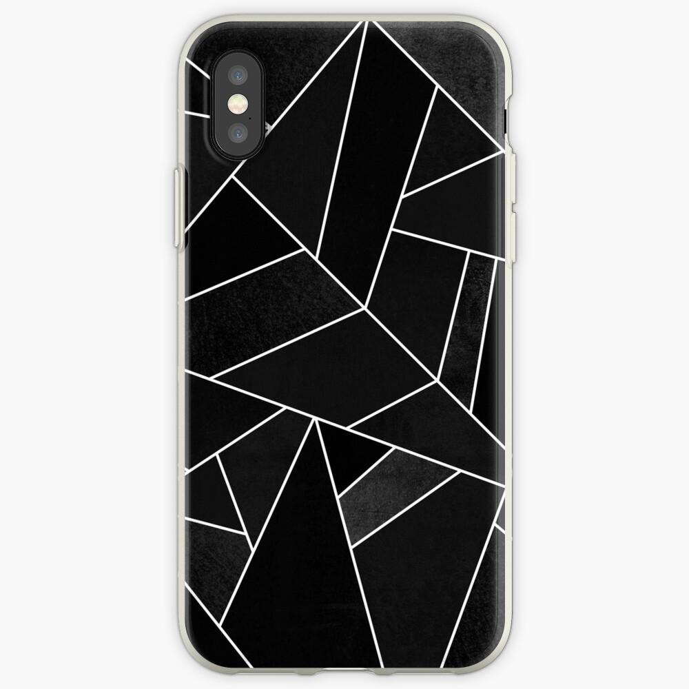 Schwarzer Stein iPhone-Hülle & Cover