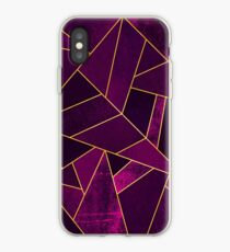 Purple Stone / Gold Lines iPhone Case