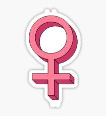 Pegatina Etiqueta engomada del símbolo femenino - Feminismo