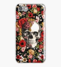 In bloom floral skull iPhone Case/Skin