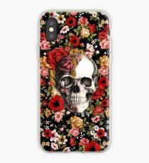 Vinilo o funda para iPhone En flor floral cráneo