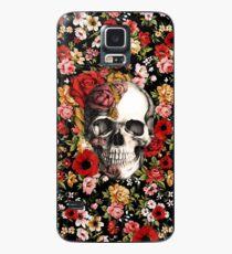 In bloom floral skull Case/Skin for Samsung Galaxy