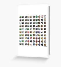 100 Minecraft Blocks Greeting Card