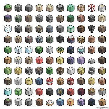 100 Minecraft Blocks by theoceanowl