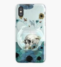 Looking glass skull in fish bowl  iPhone Case