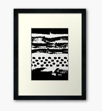 Brush Stroke Waves Framed Print